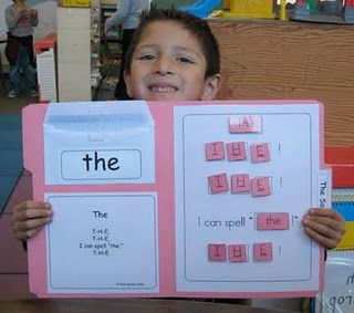 velcro sight words practice folders