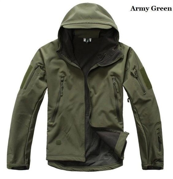 Men Tactical Jacket Hard Shell Sport Outdoor Military Waterproof ...