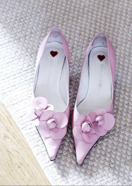 Pretty in Pink... By greige: interior design ideas and inspiration for the transitional home...looove the shoes!!