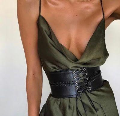 Sugestões de verão cintos largos marcando a cintura  www.fashionchique.pt