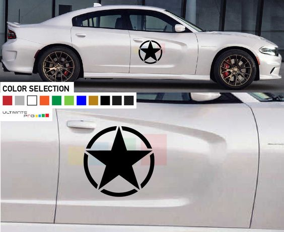 Sticker Star Decal Kit For Dodge Charger Panel Chrome Pro Lip Dress Up Tuning 12 Ultimateprocy1 Dodge Charger Star Decals Dodge