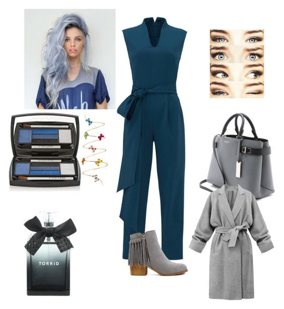 """Grey &Blue"" by pinkrosa014 ❤ liked on Polyvore featuring TIBI, Christina Debs, Michael Kors, Torrid and Lancôme"