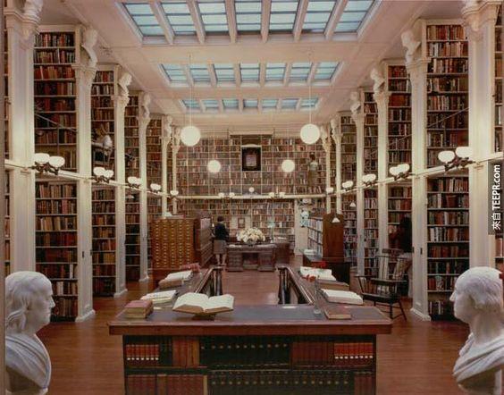 16.) 普羅維登斯圖書館 (The Providence Athenaeum)