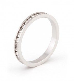 Channel set clear Swarovski crystals highlight this stylish stackable band. $14 @ JGOOD