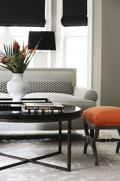 Friday 39 s favourites orange and black grey design and - Orange and grey living room ideas ...