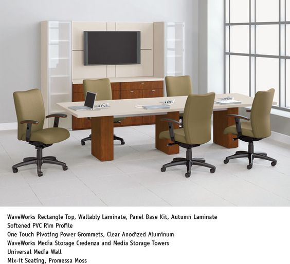 National Office Furniture Waveworks Table With Mix It