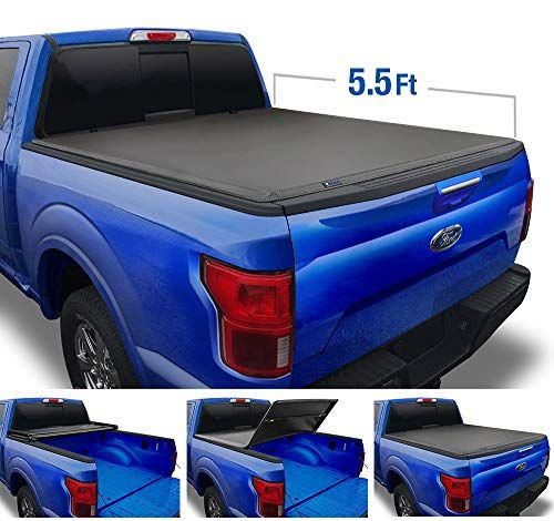 Tyger Auto Black Top T3 Soft Tri Fold Truck Tonneau Cover For 2015 2020 Ford F 150 Styleside 5 5 Bed Tg Bc In 2020 Tonneau Cover Truck Bed Covers Truck Tonneau Covers