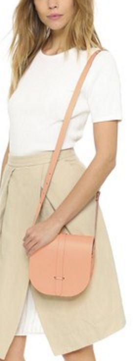 Peach Cambridge Saddle Bag