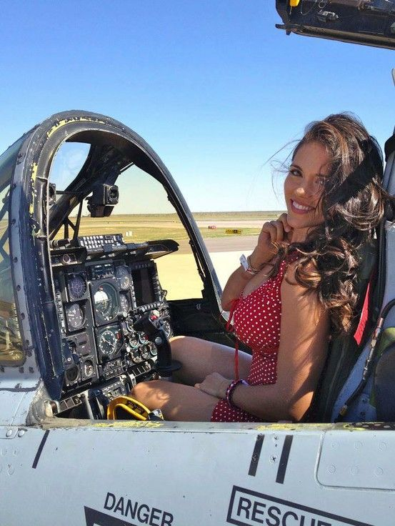 Girls with Airplane Pictures - Woman and Aircraft Photos - Female ...