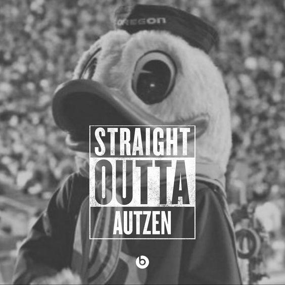 University of Oregon mascot THE DUCK!