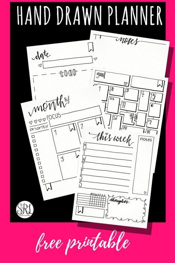 11 Free Bullet Journal Printables To Save You Time Wildflowers And Wanderlust Planner Printables Free Journal Printables Free Bullet Journal Inserts
