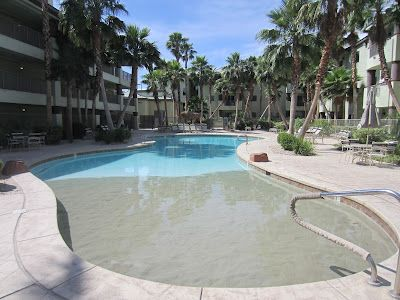 sand beach entrance pool  http://www.heybuddyblog.com/2012/05/what-to-do-in-vegas-when-you-dont.html