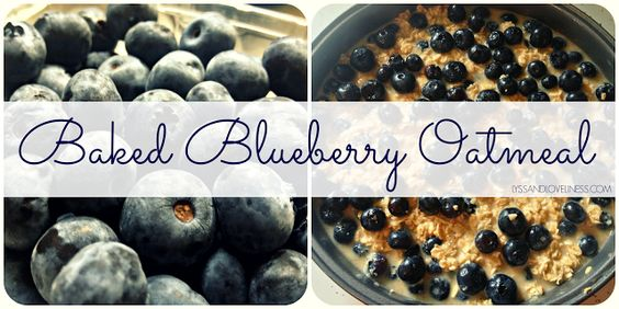 Baked Blueberry Oatmeal - Lyss & Loveliness