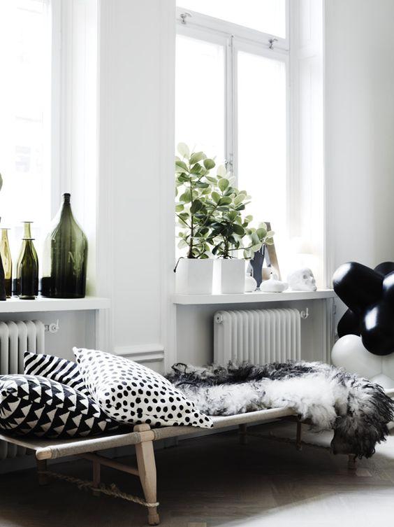 Das schwedische Haus besitzt ein modernes Bad