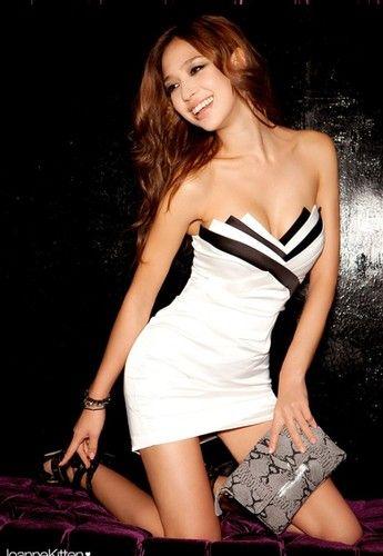 Womens Sexy Strapless Classic Black White Cocktail Party Tube Mini Dresses 4641 | eBay