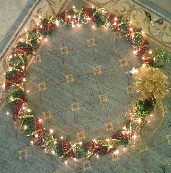 how to make rope wrapped wreath