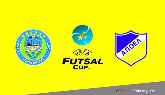 Futsal: City'us Tîrgu-Mureș va întâlni APOEL Nicosia (Cipru), astăzi de la ora 17:30, în UEFA Futsal Cup
