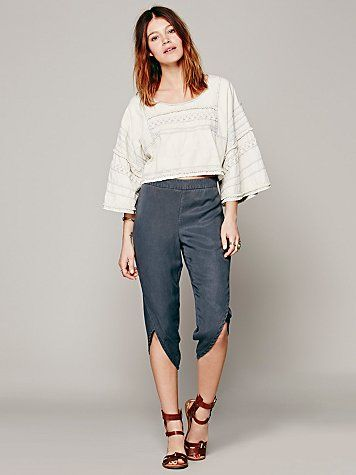 Free People High Rise Petal Pant