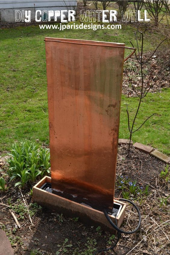 Outdoor Copper Water Wall Diy Water Feature Diy Water Fountain