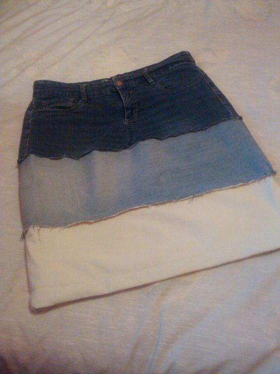 faldilla feta per mi de pantalons vells #handcraft #DIY #recicled