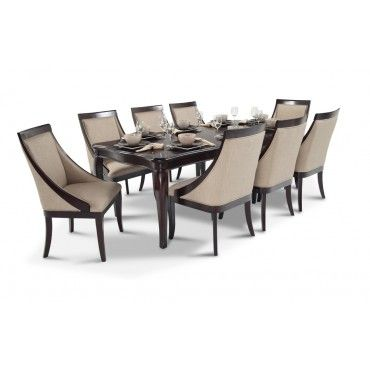Gatsby 9 Piece Dining Set With Swoop Chairs Furniture Pinterest Gatsby Dining