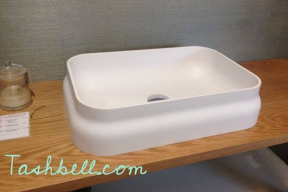 It was love at first sight when I first saw this vanity basin on The Block Glasshouse in 2014 in Dee and Darren's bathroom
