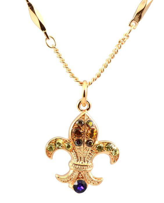 mariana hope rose gold plated swarovski crystal fleur de lis