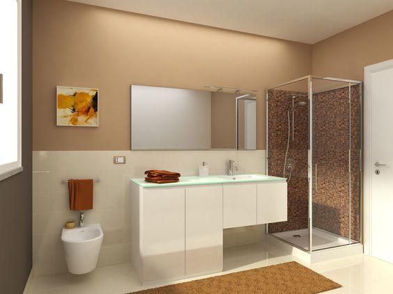 farbe badezimmer grün wasserabweisend doppelwaschtisch holzfronten - farbe für badezimmer