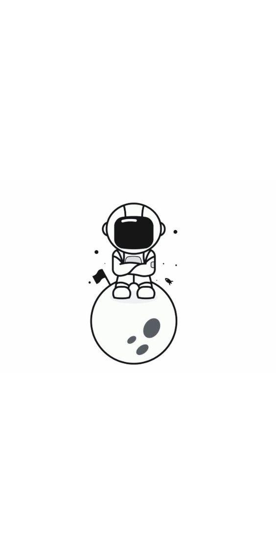 Dope Easy Drawings : drawings, Doodle, Ideas, Space, Drawings,, Illustration,, Astronaut