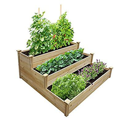 Amazon Com Greenes Fence Best Value 3 Tier Cedar Raised Garden