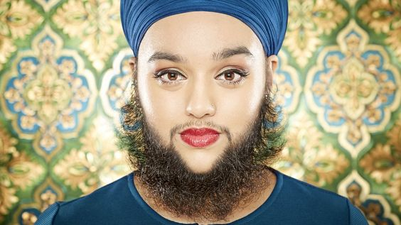A model with six-inch long facial hair has become the youngest woman in the…