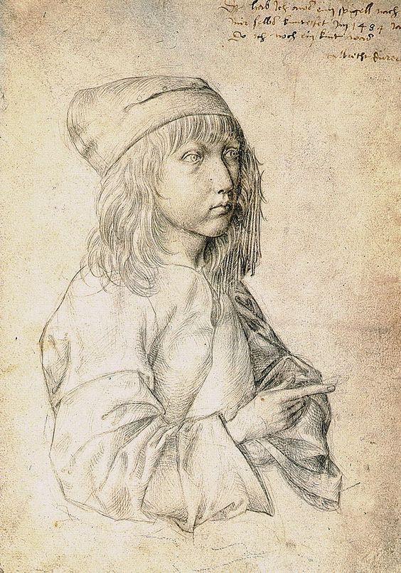 Albrecht Durer - Self-portrait at 13, 1484. Silver point drawing.