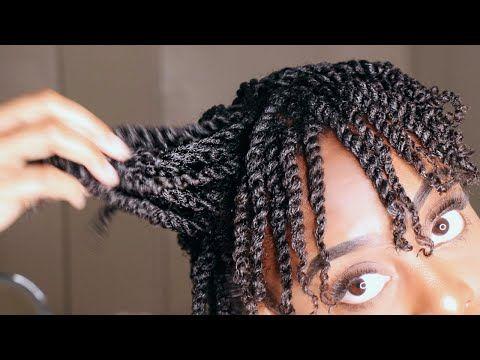 How To Mini Twist On Short Natural 4b 4c Hair Gloria Ann Youtube Hair Twist Styles Natural Hair Styles Short Hair Twist Styles