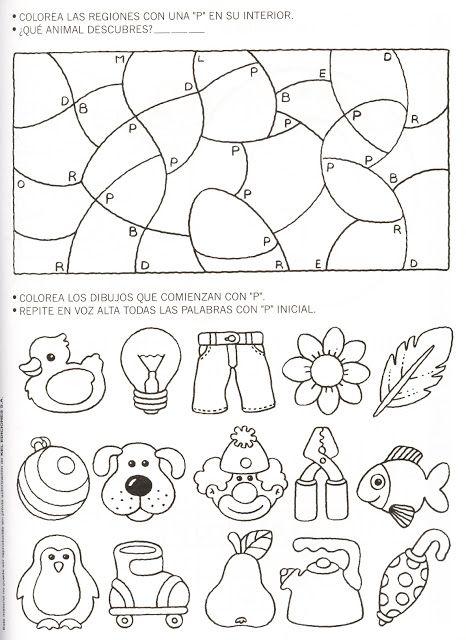 Actividades para trabajar la letra p prekinder yellow for Muebles para preescolar