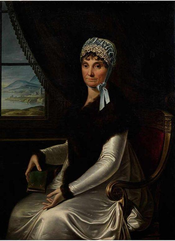Französische Schule des 19. Jahrhunderts PORTRAIT DER MARIA LETIZIA RAMOLINO BONAPARTE Öl auf Leinwand. Doubliert. 119 x 89 cm. Maria Letizia Ramolino Bonaparte (1750 - 1863), Madame Mère de l`Empereur, war die Mutter von Napoleon I.