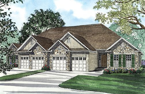 Multi Family Plan 62349 With 6 Bed 4 Bath 4 Car Garage Family House Plans Duplex Floor Plans Duplex Plans