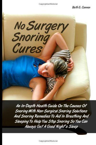 http://snoringsolutionsforever.com/pinnable-post/no-surgery-snoring-cures-an-in-depth-health-guide-on-the-causes-of-snoring-with-non-surgical-snoring-solutions-and-snoring-remedies-to-aid-in-so-you-can-always-get-a-good-nights-sleep Snoring affects many people for many different reasons. Some people snore after a very tiring day. Some snore when they have an allergy or cold. There are those who start snoring as they age even if they've never sn...