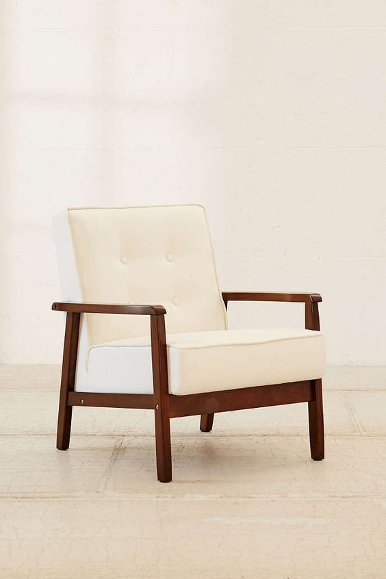 Campbell Vegan Leather Arm Chair - Urban Outfitters