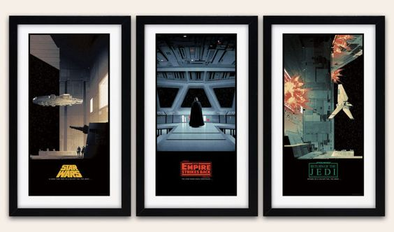 matt ferguson civil war posters | Matt Ferguson Star Wars Saga 'd Triptych Set - 3x Movie Poster Art ...