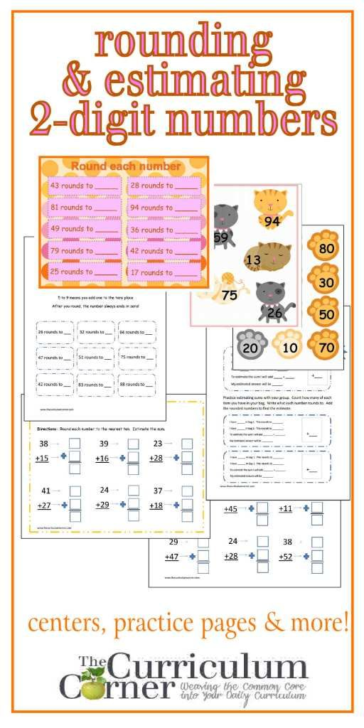 Rounding Estimating 2 Digit Numbers Common Core Math Standards Common Core Math Rounding Common core math worksheets rounding