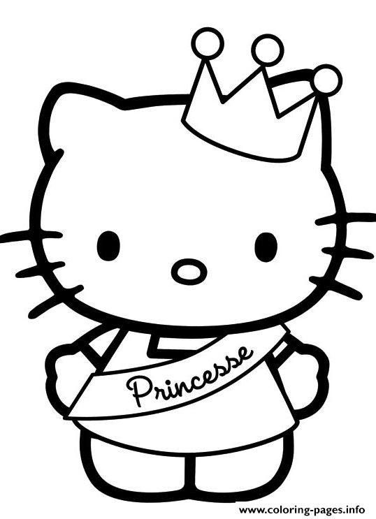 Cute Hello Kitty Coloring Pages Hello Kitty S Cute Princess512e Coloring Pages Printabl Hello Kitty Printables Hello Kitty Colouring Pages Hello Kitty Coloring