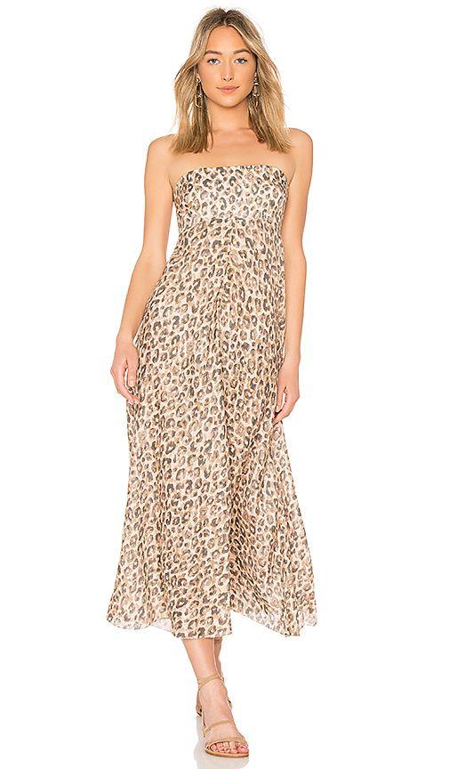 Zimmermann Melody Strapless Maxi Dress