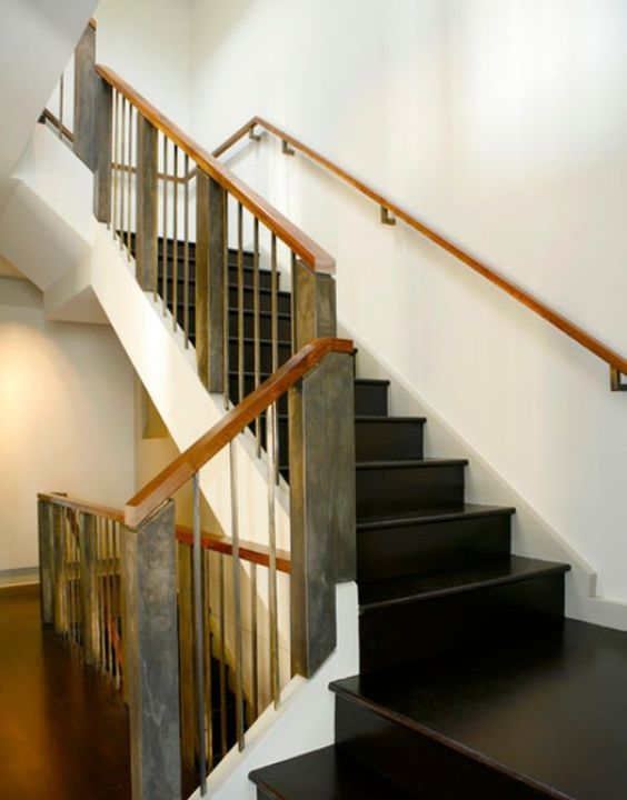 Facts architecture and beautiful on pinterest for Interior wood railing designs