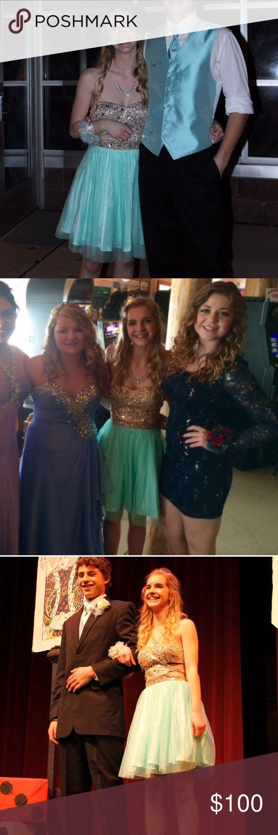 Super cute short prom dress with side cutouts blue corset prom