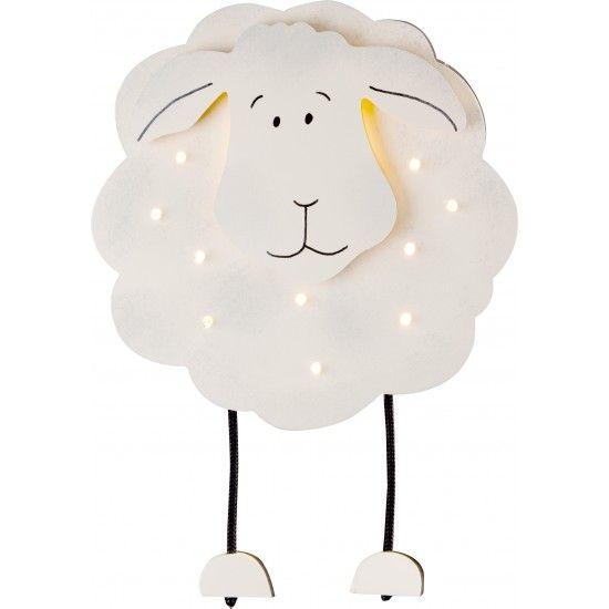 sheep wandlamp wit zwartsteinhauerhttp://www.lampenwereld.nl, Deco ideeën
