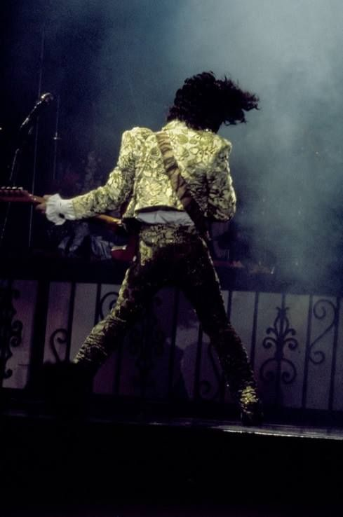 Classic Prince | 1984/85 Purple Rain Tour - Perfroming during the opening night of the Purple Rain Tour. Joe Louis Arena Detroit, Michigan November 4th 1984 - photographer: Patrick Harbron: