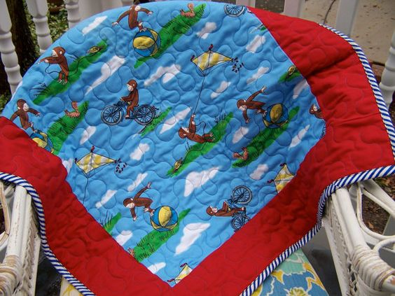 Curious George Baby Toddler Stroller Play quilt | Baby & toddler ... : curious george quilt - Adamdwight.com
