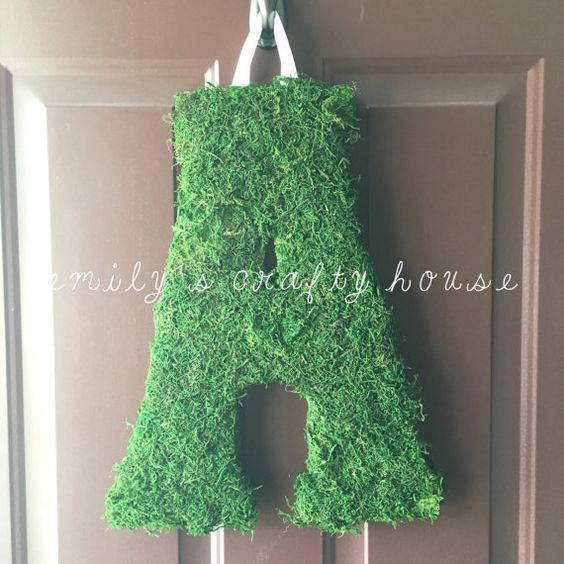 Hanging Moss Letter by EmilysCraftyHouse on Etsy
