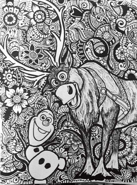 Olaf and Sven Design by byjamierose on Etsy