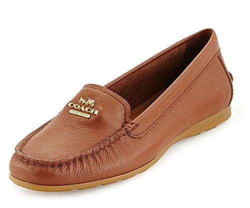 Coach Opal Classic Loafer Driver Driving Moc Loafer Flat Saddle 5.5
